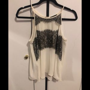 Forever 21 Black and White Camisole Size Medium